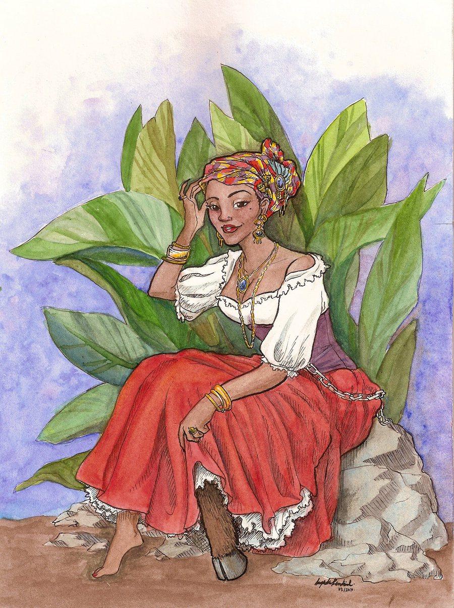 Une diablesse selon la légende antillo-guyanaise- sadida